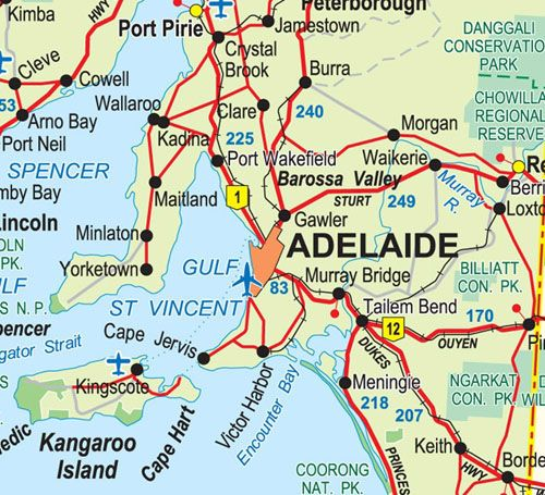 Adelaide City Location Map