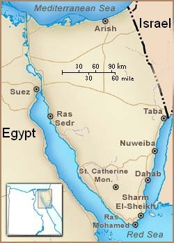 Nuweiba Location Map