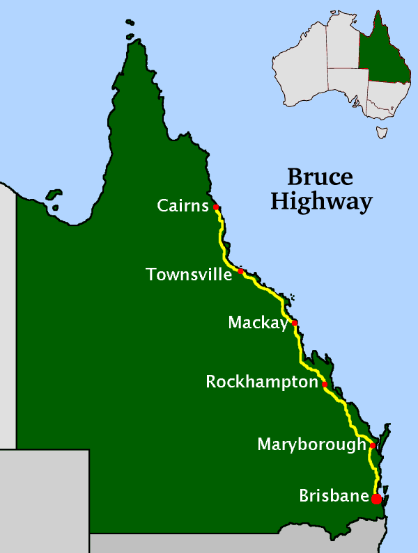 Townsville Location Map
