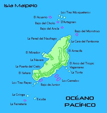 Malpelo Island Map