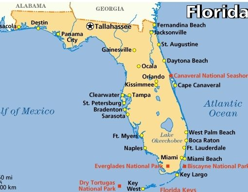 Fort Myers Location Map