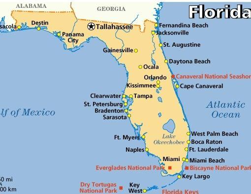 Sarasota Location Map