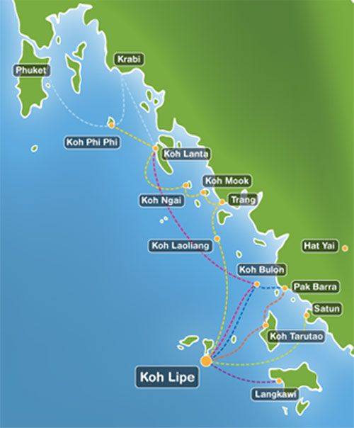 Ko Lipe Location Transportation Map