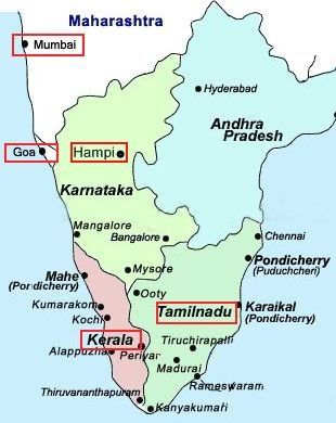 Pondicherry Location Map