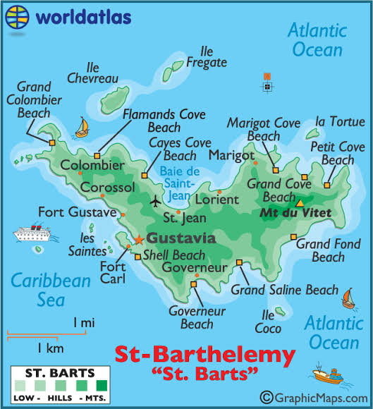 St. Barts Map