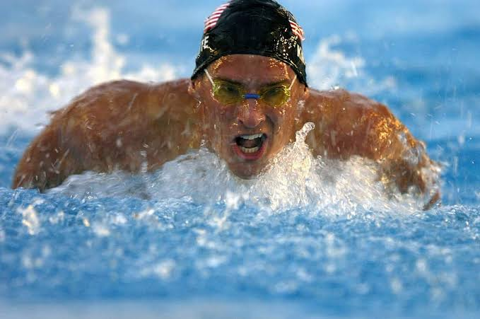 Competitive Swimmer With Goggles