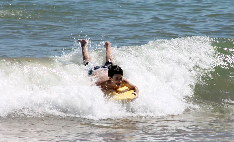 Boy Bodyboarding