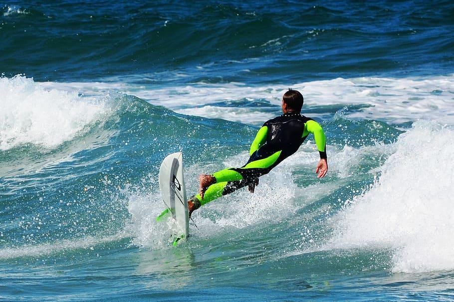 Surfing Man in Surfing Wetsuit