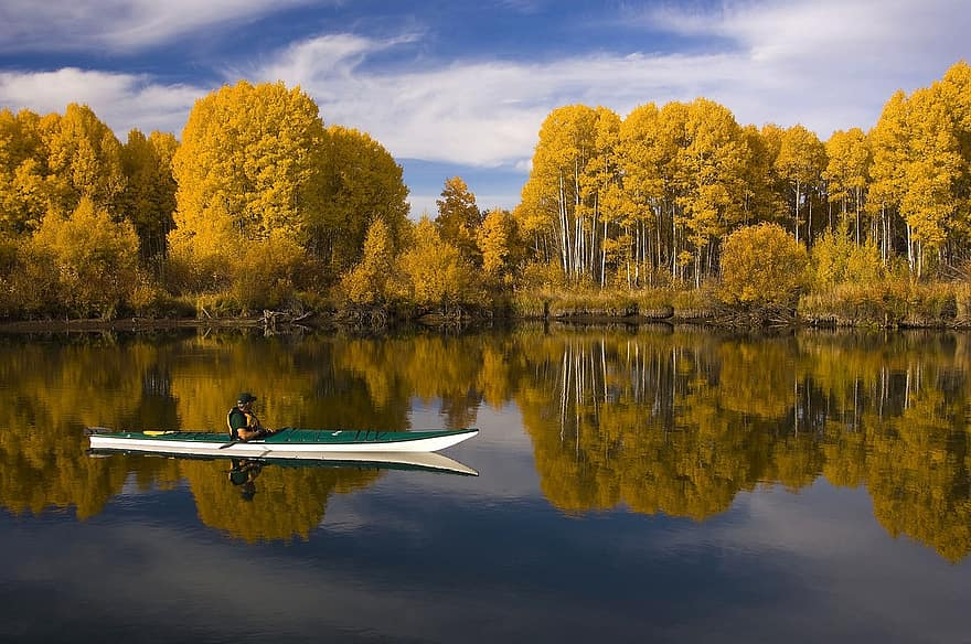 Kayaking Lake Scene - Best Gifts For a Kayaker