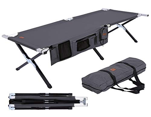 Tough Outdoors Camp Cot With Organizer - Best Camping Bed in 2020