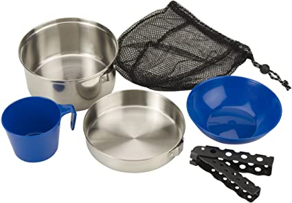 Coleman Stainless Steel Mess Kit - Best Mess Kits for Camping